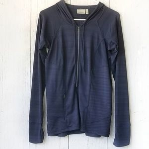 Athleta Navy Blue Hoodie Medium Space Dye